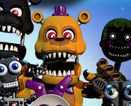 Nightmare Fredbear in FNAF World