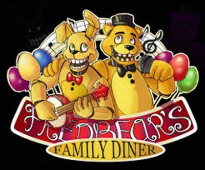Fredbear family diner logo