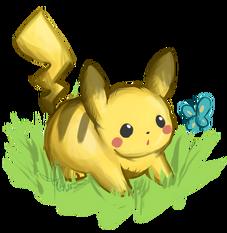 Chubby pikachu by raidiance-d2xkksm