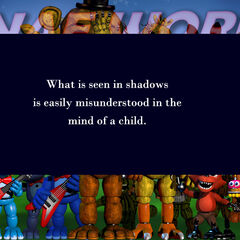 The 19th version shows another clue: What is seen in the shadows is easily misunderstood in the mind of a child.