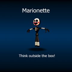 Marionette on atheloading screen