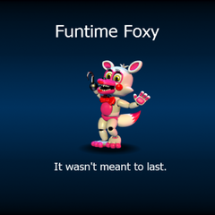 Funtime Foxy on the loading screen.