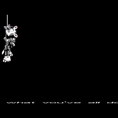 Mangle or Funtime Foxy hanging from the paddle-ball.