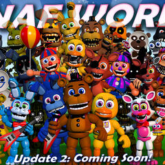 This version shows the advertisement of Update 2 and the new animatronics.