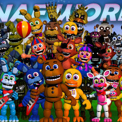 The 22nd version shows most animatronics move and Withered Golden Freddy disappears from the top and Original Freddy changes.