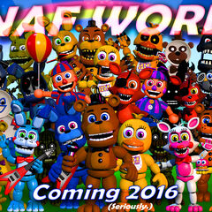 The final DIFFERENT version shows a temporary Rainbow across the top as a joke off Steam from Scott Cawthon