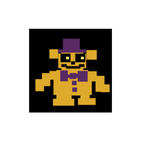 one of 8-Bit Fredbear's frames