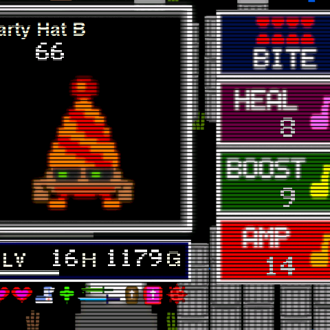 Party Hat B when encountered