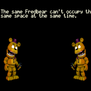 The Fredbears glitching
