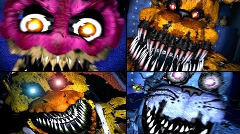 ALL JUMPSCARES Five Nights At Freddy's 1, 2, 3, 4 (FNAF, FNAF 2, FNAF 3, FNAF 4) FNAF Jumpscares