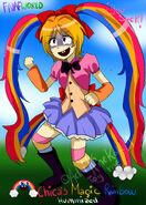 Chica s magic rainbow fnafworld humanized by adrikoneko mizuiro-db0rjy2