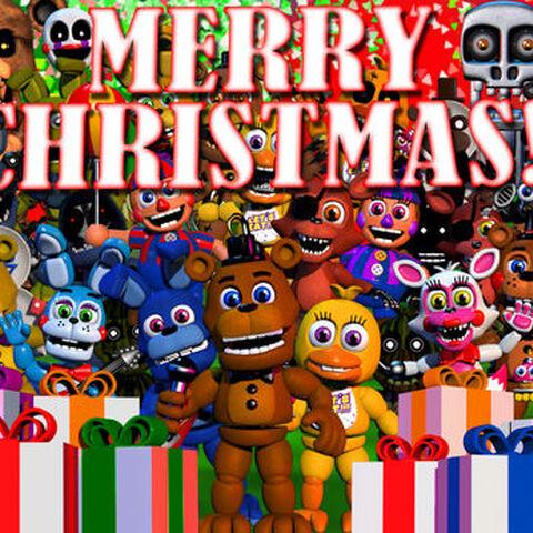 The Merry Christmas image on Fnafworld.com