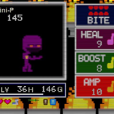 Mini P when encountered.