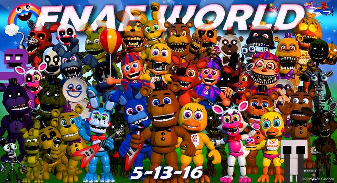 juegos de fnaf world