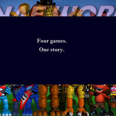 The 20th image version shows the final FNAF 4... Clue? 'Four games. One Story.'