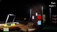 The office with spongebob in the right door