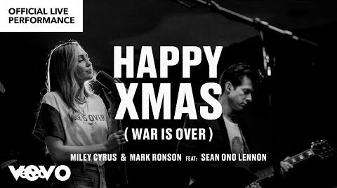 "Miley Cyrus, Mark Ronson ft. Sean Ono Lennon - ""Happy Xmas (War is Over)"" Official Performance -Vevo"