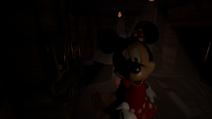 Minnie in Meat Freezer