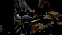 Abandoned Photo Negative Mickey in Suit Warehouse