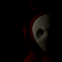 Beta Po from the title screen in the Five Nights at Dipsy's prototype game.