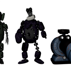 Full body image for all the tubbybots in the game, from Critolious's DeviantArt.