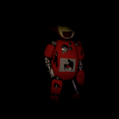 The thumbnail for the low poly Po model download, on Critolious's  DeviantArt.