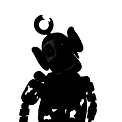 The last frame of Prototype Po's appearing animation, dark. Presumably used for when she is in the office in the dark.