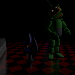 An unused texture of Dipsy in the Party Room.