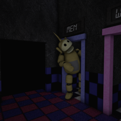 Laa-Laa in the Tubby Toilets with no eyes, from the Nightmare Night.