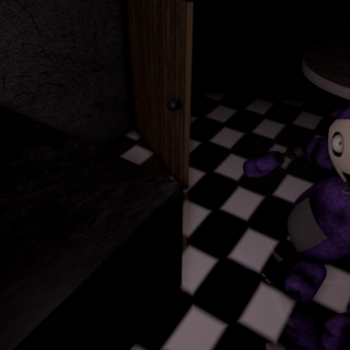 Tinky Winky in the Kitchen.