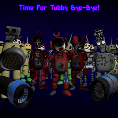 All the tubbybots saying bye-bye in one image from Critolious's DeviantArt.