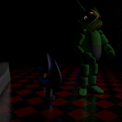 An unused image of Dipsy in the Party Room that can still be seen due to a glitch.