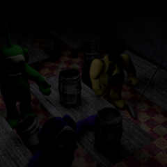 Beta Laa-Laa, Tinky Winky, and Dipsy in the Dining Room 1.