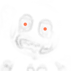 A hallucination of Po, with red eyes and a bright-white color that appears during cutscenes.