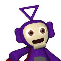 The full body Tinky Winky plush from Critolious's DeviantArt.