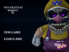 FNaW3 title screen