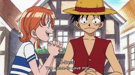 Nami meets Luffy