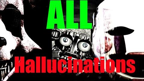 ALL HALLUCINATIONS HIDDEN CHARACTERS (Five Nights at Freddy's 2) (Fnaf 2)