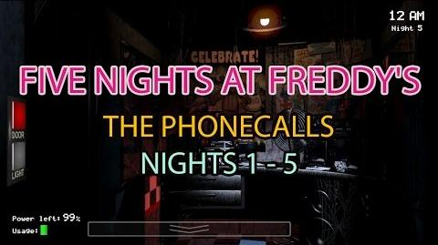 Five Nights At Freddy's Phone Calls Messages Only Nights 1 - 5