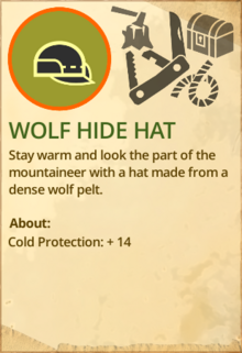 Wolf hide hat