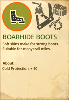 Boarhide boots