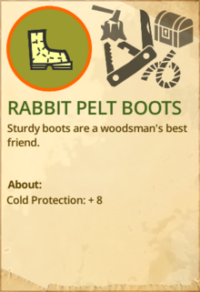 Rabbit pelt boots