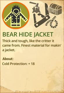 Bear hide jacket