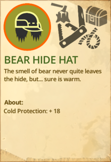 Bear hide hat