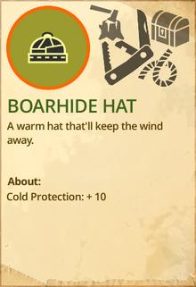 Boarhide hat
