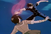 Recca fighting Fuuko