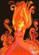Flame princess by xmembrillita-d4sn39p