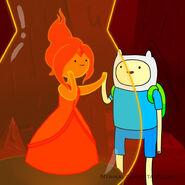 Finn and flame princess by nyamas-d59rofv