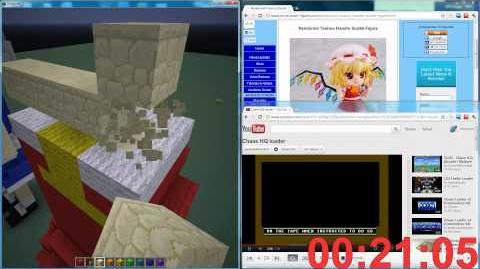 【Touhou Minecraft】 - Flandre Scarlet 3D Pixel Art HD 1080p