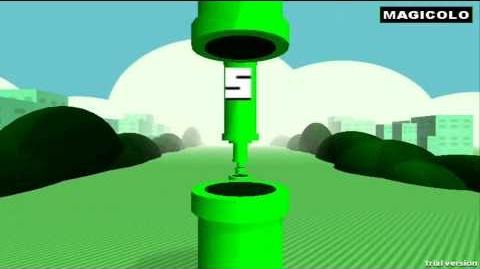Floculus Bird - Flappy Bird 3D oculus rift gameplay 2014